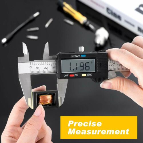 LCD Digital Electronic Stainless Steel Vernier Caliper Gauge Micrometer 150mm 6/""