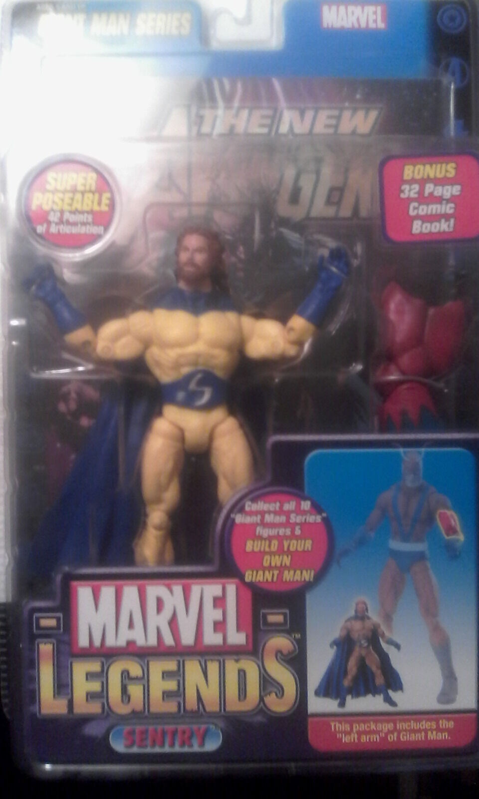 Toybiz Toy Biz Marvel Legends Sentry variant bearded Giant Man series