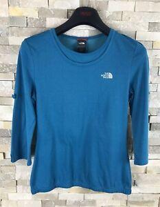 The-North-Face-Senoras-Tamano-S-mecha-de-Vapor-Azul-Camiseta-Top
