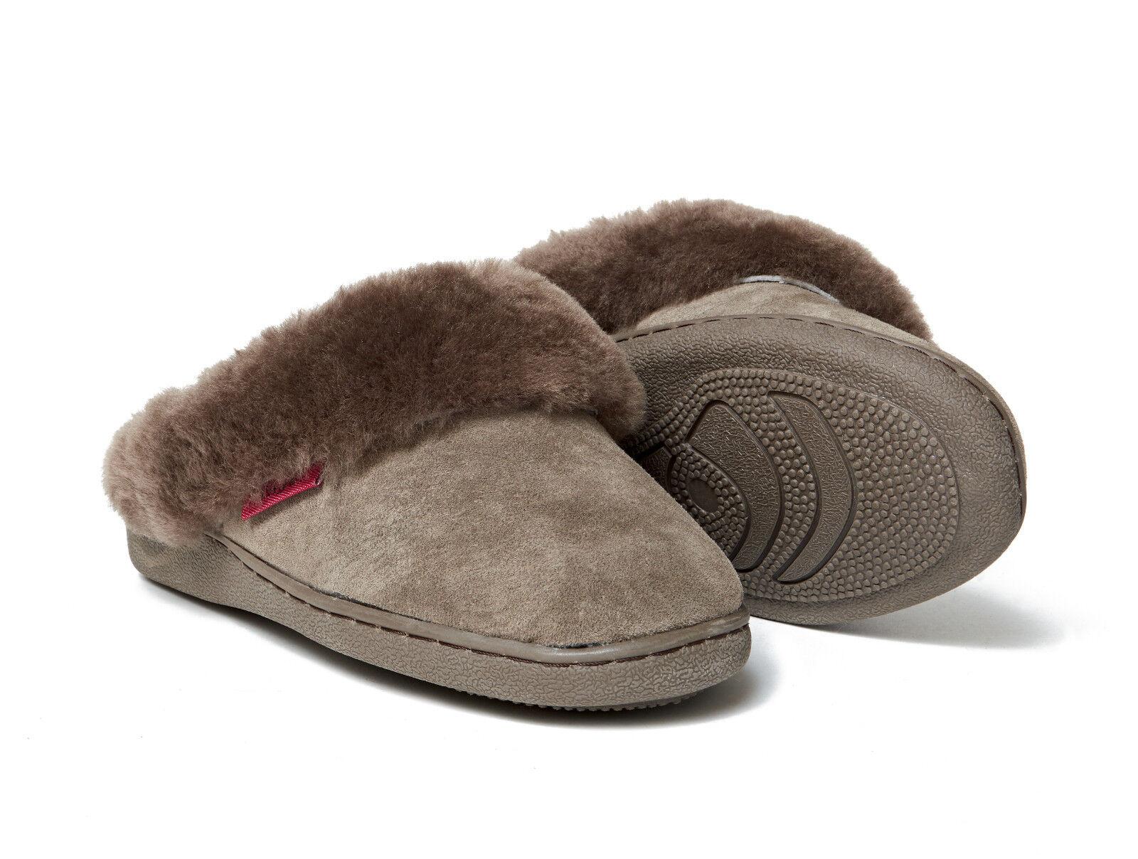 Lammfell Pantoffeln Korfu braun dick Damen + warme Hausschuhe Damen dick Herren Fell 36-48 db5f2e
