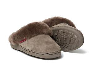 new style 52d43 08e7f Details zu Lammfell Pantoffeln Korfu braun dick + warme Hausschuhe Damen  Herren Fell 36-48