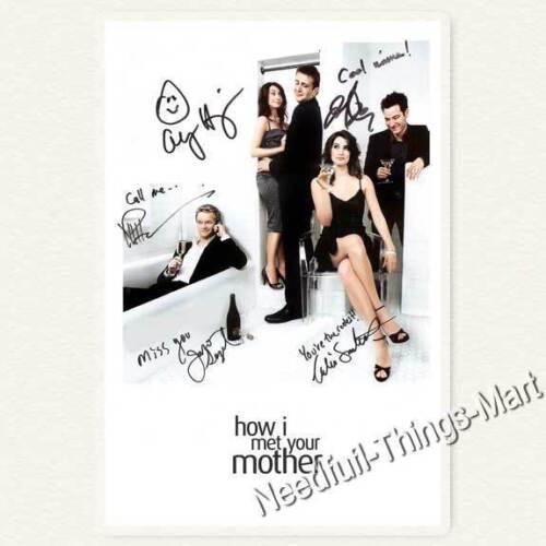 How I Met Your Mother Autogrammfotokarte laminiert  A01 Cast