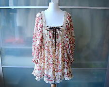 AUTHENTIC Liz Lisa cream pink floral boho hippy top ~ JAPAN ~ Lolita ~ Japanese