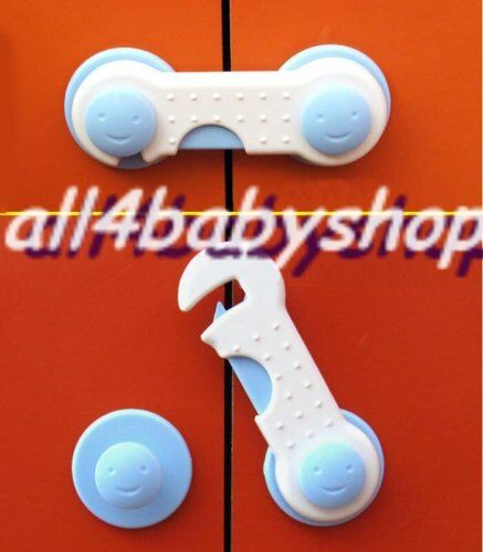 2Pcs Baby Toddler Safety Cabinet Cupboard Door Lock