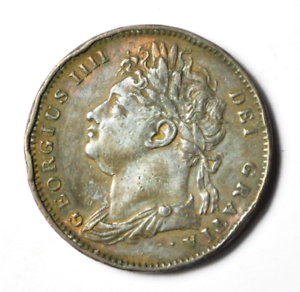 1821-Great-Britain-1F-Copper-Farthing-Dot-After-Date-Rare-KM-677