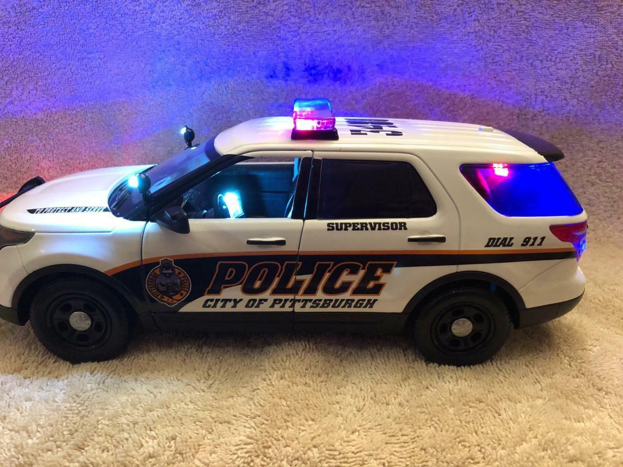 1 18 SCALE PITTSBURGH POLICE Ford Explorer MODEL WITH WORKING LIGHTS AND SIREN