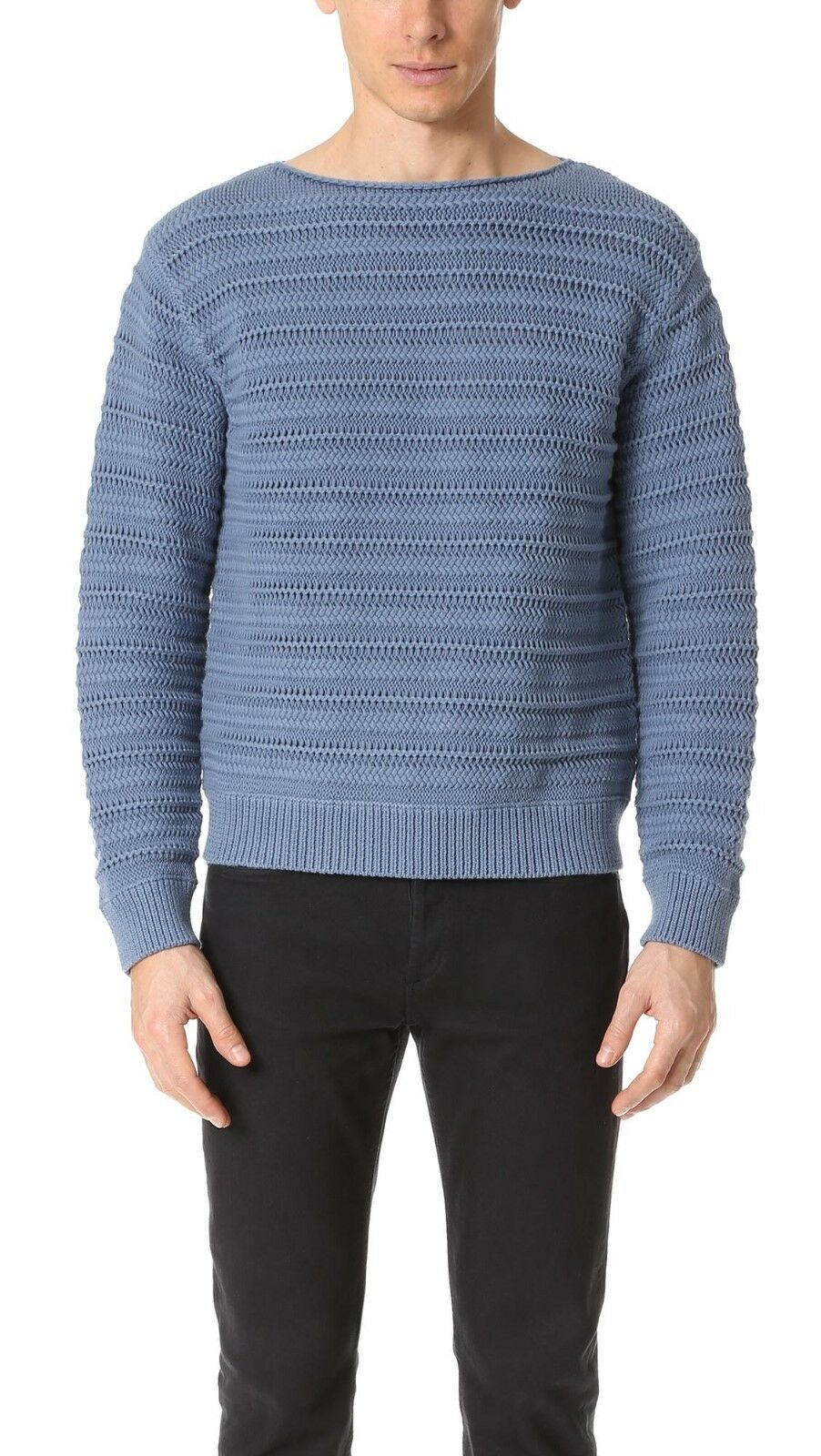 Vince Ocean bluee Mens Size L Knitted  Sweater NWOT