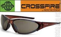 Crossfire Core Brown High Definition Safety Glasses Sunglasses Shooting Z87+