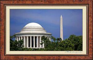 The Jefferson Memorial & The Washington Monument