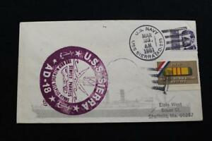 Navale-Cover-1981-Nave-Annullo-Postale-SHIP-039-S-Marchio-Uss-Sierra-AD-18-5250