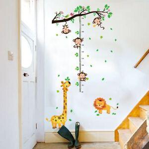 Messlatte Dschungel Löwe Giraffe Affe Kinderzimmer Wandtattoo ...