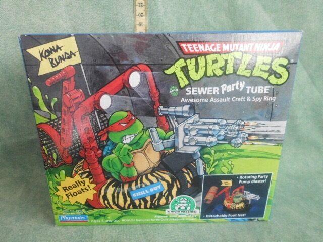 Playmates Teenage Mutant Ninja Turtles Sewer Party Tube IN   scatola 1989 nuovo  negozio all'ingrosso