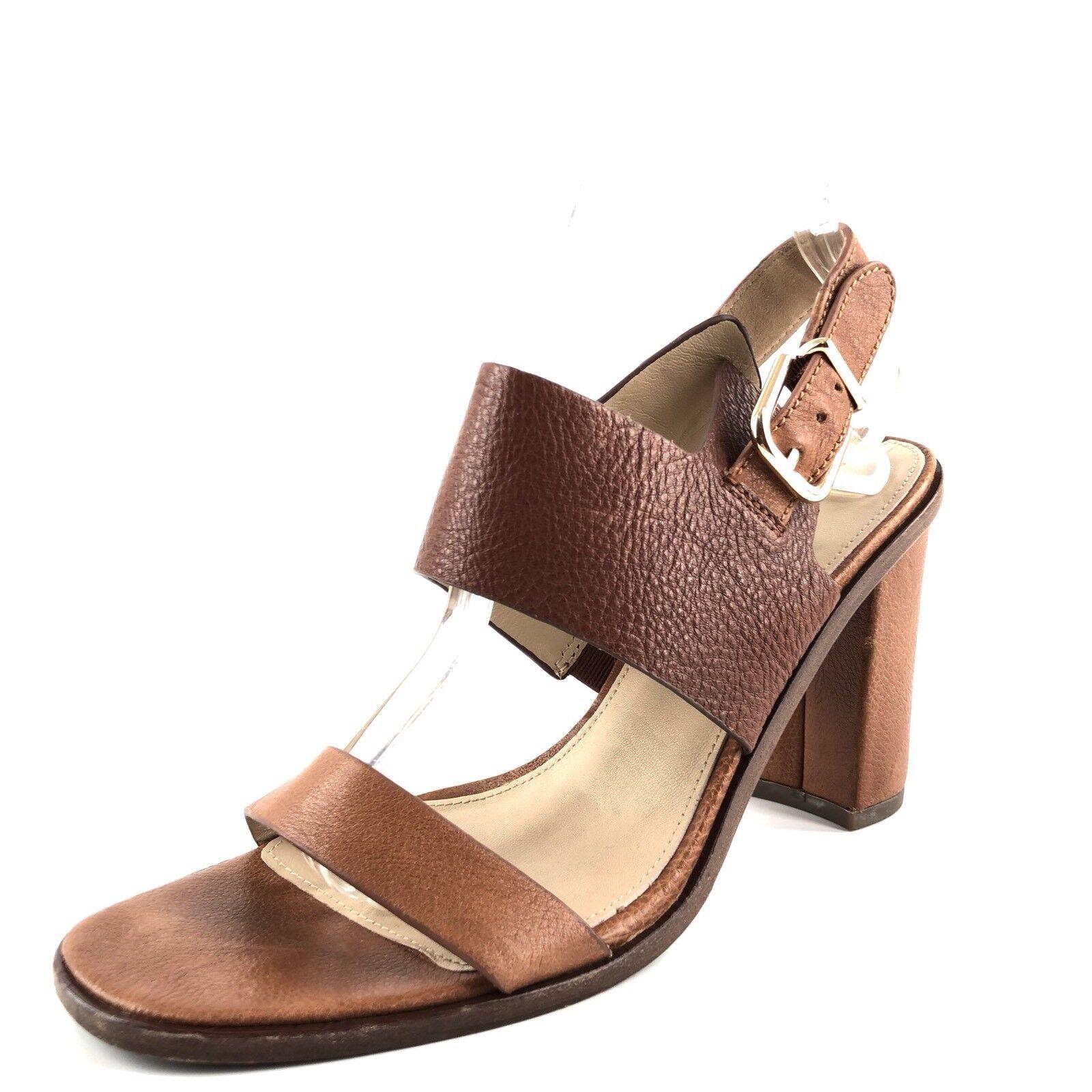 Via Spiga marron Leather Open Toe Slingback Sandals femmes's Taille 7 M