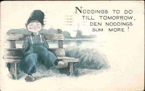 pbw-Postcard-Dutch-Child-Nodding-To-Do-Till-Tomorro