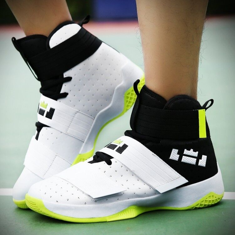2019 Mwns High Top Basketbacll shoes Flats Heel Sport Casual Outdoor US size hot