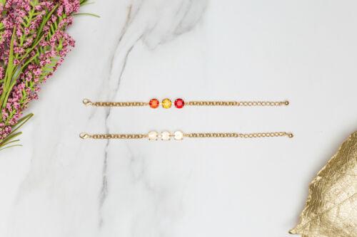 #EB 106 11mmClassic Three Setting DIY Bracelet BaseThree Pieces