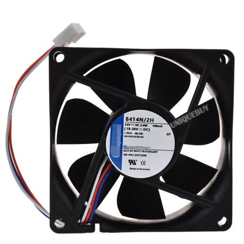 For ebmpapst 8414 N//2H 8cm 24V 3line 2.4W cooling fan
