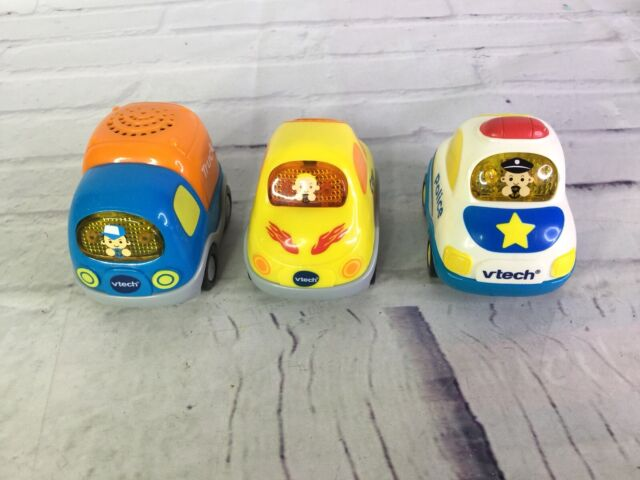 Vtech Go Go Smart Wheels Vehicles Lot Police Car Truck Talking Sounds Light Up