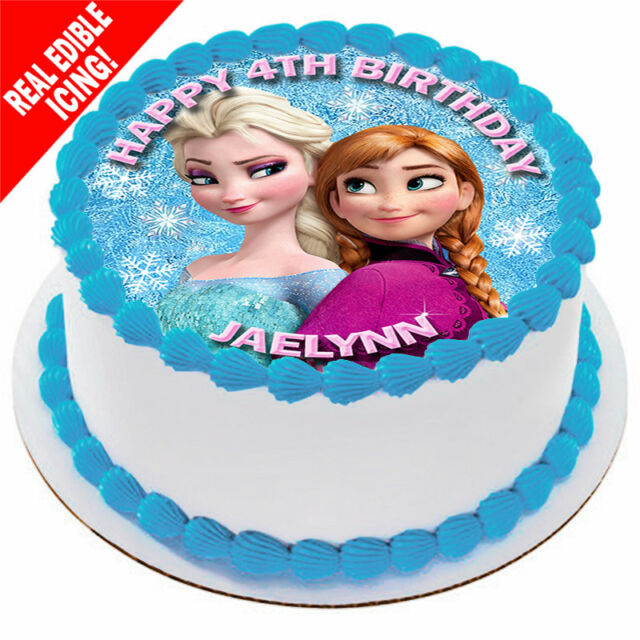 Frozen Edible Icing Image Cake Topper B Personalised Birthday Party Decoration