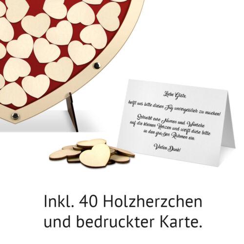 Holzherzchen Hochzeit Gästebuch Alternative Hochzeitsgästebuch Herz S Rot