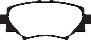 EBC Blackstuff Bremsbeläge Hinterachse DPX2186 für Mazda 3