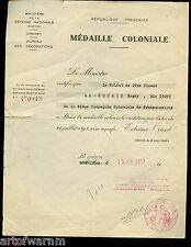 France Colonial Troops document lot - Sgt Rouzic, Signals- Indochina & Algeria