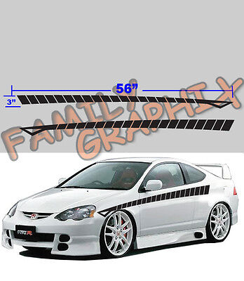 """9 colors 3F26 Universal Car pinstripe Racing side graphics decals 58/"""" x 17.5/"""""""