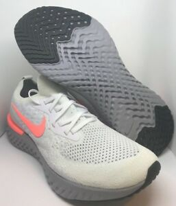 ffda4863c737 Nike Epic React Flyknit iD Women s Running Shoe White Gray Peach ...