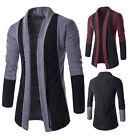 Stylish Men Knitted Cardigan Jacket Slim Long Sleeve Casual Sweater Coat Tops