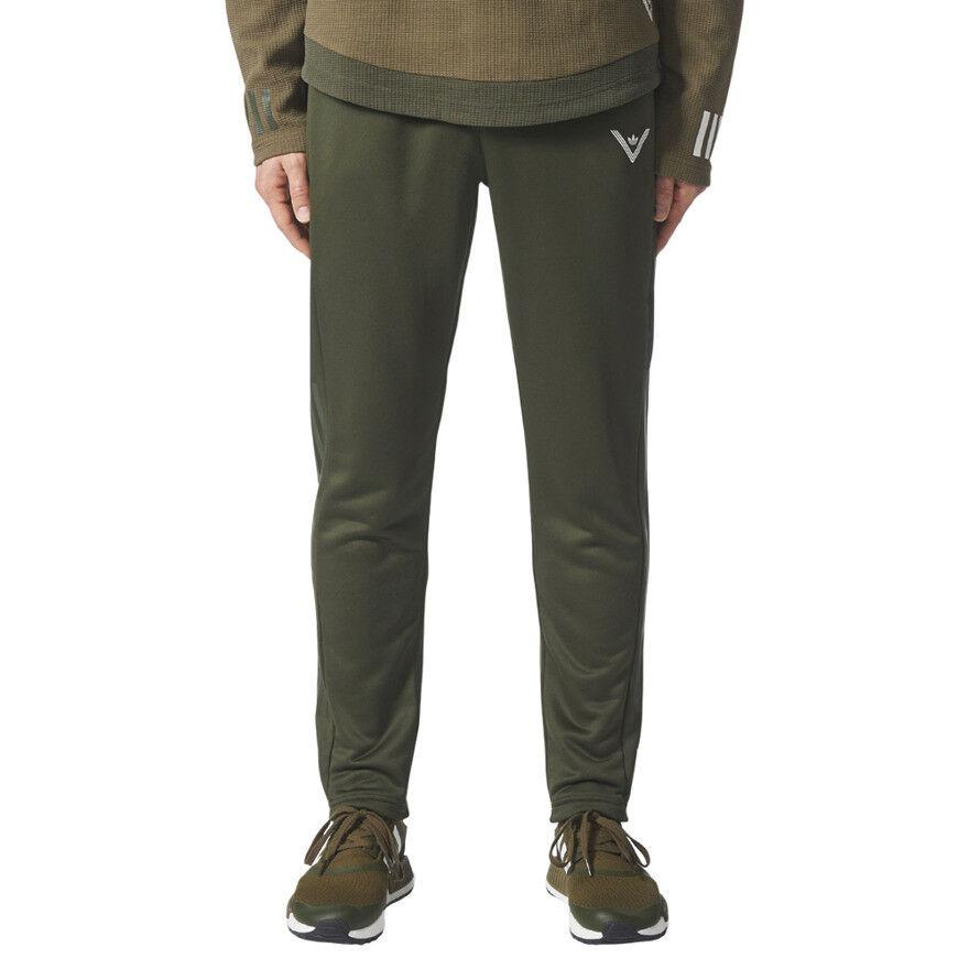 Mens adidas Originals Weiß Mountaineering Trackpants Grün Hiking Trousers