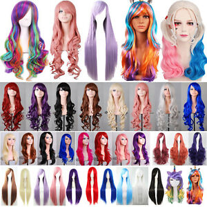 Curly-Wavy-Straight-Wigs-Fancy-Anime-Womens-Cosplay-Costume-Party-Hair-Full-Wig