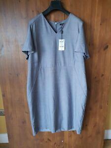 UVP-44-naechsten-Tailoring-Midi-Etuikleid-Sommer-Arbeit-Kleid-UK-22-50-NEU