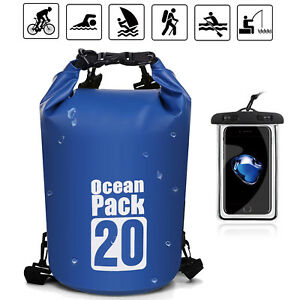 1bfe1f0526b8 10 20 Sports Waterproof Dry Bag Backpack Pouch Floating Boating ...
