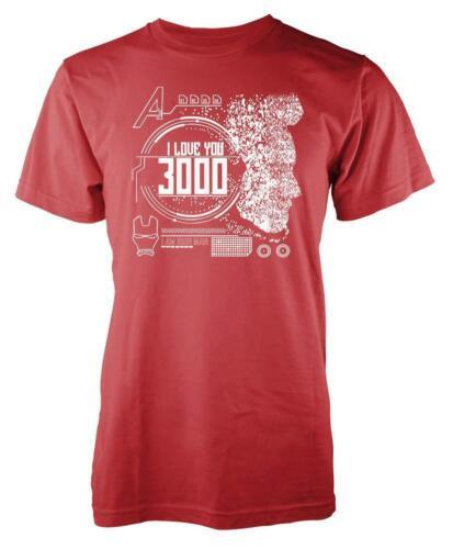 Avengers Iron Man Stark I Love You 3000 Adult T Shirt