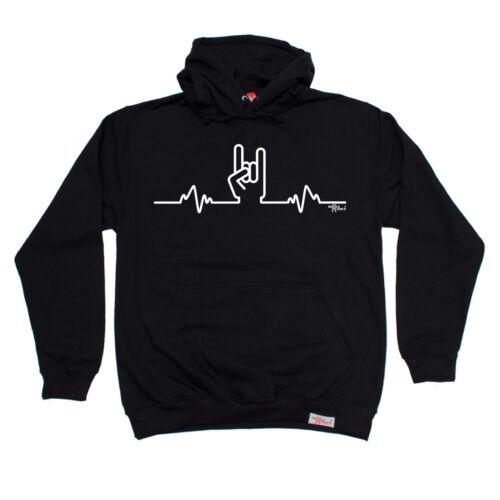 Rock Heartbeat Pulse Metal Hand Banned Member HOODIE hoody birthday gift heavy