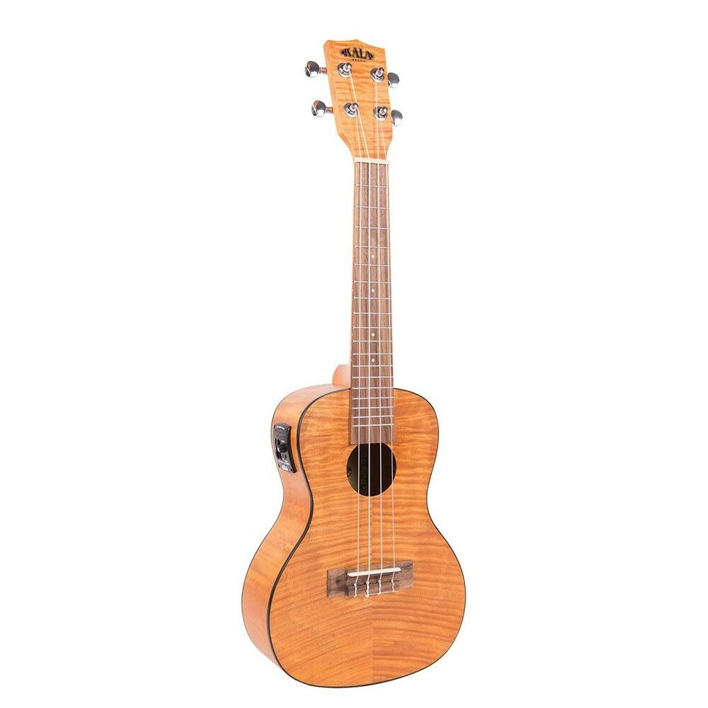 Kala Exotic Mahogany Acoustic-Electric Uke Konzert Ukulele Amber Satin Finish