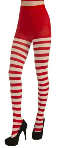 Forum Novelties Striped Candy Cane Christmas Holiday Tights Stockings 71928