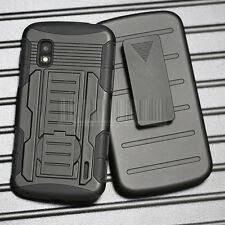 Armor Hybrid Impact Rugged Hard Case Cover Holster For Google LG Nexus 4 E960