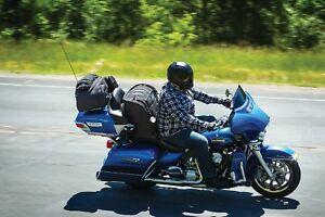 Image Is Loading Harley Davidson Touring Motorcycle Seat Bag Driver Backrest