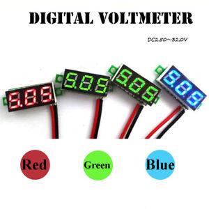 KQ-HD-AB-DC-2-5-30V-LED-3-Digital-Display-2-Wires-Voltmeter-Panel-Volt-Voltag