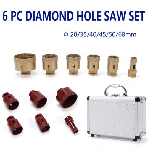 Diamant-Fliesenbohrer Set 6tlg Feinsteinzeug Granit Bohrkronen Diamantbohrer Set
