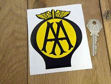 "AA Old Style Car STICKER 4"" Classic Morris Oxford Austin Mini Rover Bike Jaguar"