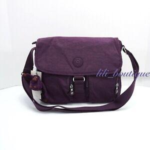 NWT-Kipling-KI0585-New-Rita-Crossbody-Messenger-Bag-Polyamide-Purple-Verbena-94