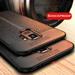 For-Samsung-Galaxy-S4-S5-S6-S7-S8-S9-Shockproof-Soft-TPU-Leather-Back-Case-Cover