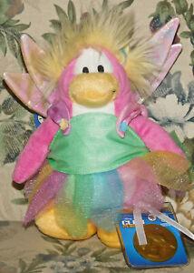 Disney-Club-Penguin-Fairy-Plush-w-Coin-Series-4-Faery-NWT-New-Tags-Stuffed-Toy
