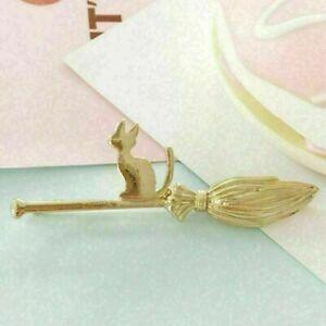 Frauen-Silber-Gold-Katze-Besen-Haarspange-Haarnadel-Barrette-Pins-Haars