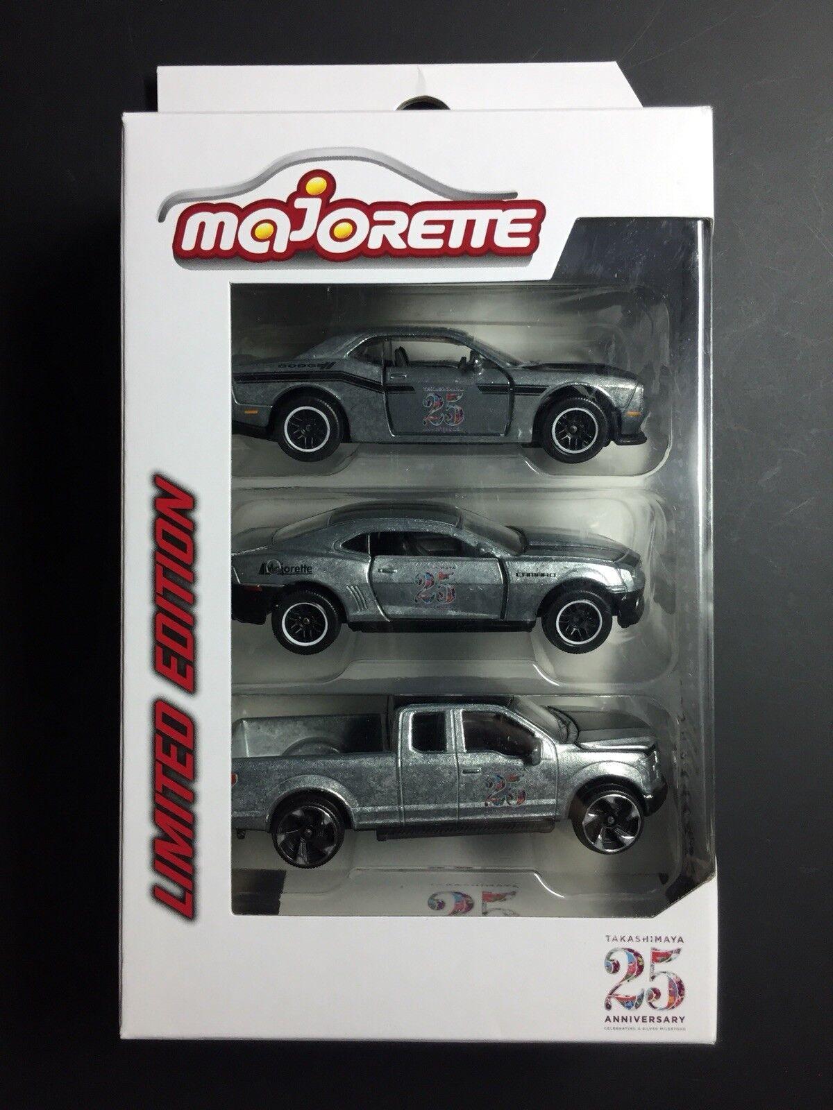 Majorette TAKASHIMAYA 25 ANNIVERSARY Diecast Model Car Car Car Set 842792