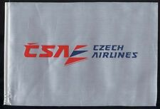 CSA Czech Airlines fabric one side desk flag pennant new (no stand) box003