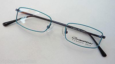 Creativo Occhiali Occhiali Bambini Occhiali Metallo Versione Rettangolare Sottile Turchese-blu Misura S-mostra Il Titolo Originale