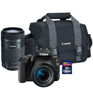 Canon-EOS-200d-sl2-24-2mp-DSLR-Kamera-Canon-18-55mm-und-55-250mm-Objektiv-Kit